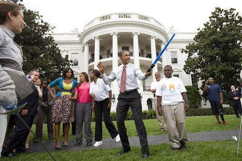 Barack Obama lightsaber sable láser