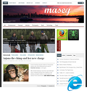 Masey.com.au on IE6