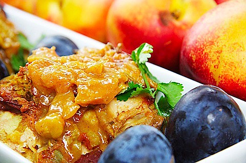 Nectarine& Plum Chicken — The Messy Baker