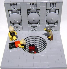 The fall of Wang (DARKspawn) Tags: lego space dio vignette diorama classicspace bignette