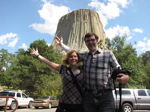 In front of Devil's Tower