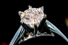 Diamond engagement ring (HowiePoon) Tags: white color macro 50mm gold iso800 engagement nikon close cut clarity polish ring diamond jewellery filter micro round nikkor 50mmf18d brilliant jewel karat d300 carat