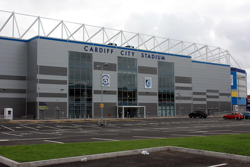 Cardiff City Stadium. This is the new Cardiff City Stadium, owned by the football club, and leased to the Cardiff Blues. The old ground, Ninian Parkquot; is opposite and decrepit.