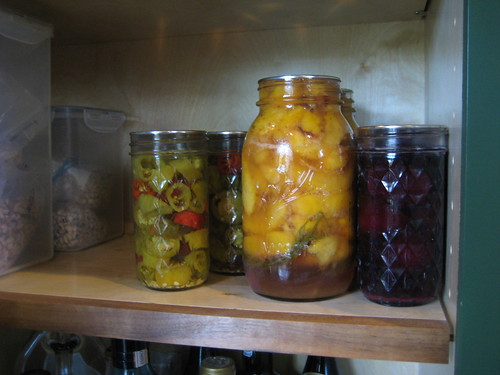jars stored in pantry