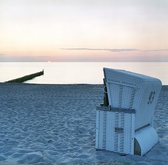 Beach Chair Scene with Negative Film