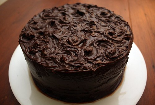 Much Depends on Dinner: double chocolate layer cake