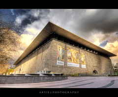 National Gallery of Victoria, Melbourne :: HDR (Artie | Photography :: I'm a lazy boy :)) Tags: architecture photoshop canon design cs2 tripod arts australia melbourne wideangle victoria structure nationalgallery block 1020mm simple hdr rectangular artie nationalgalleryofvictoria 3xp sigmalens photomatix tonemapping tonemap 400d rebelxti