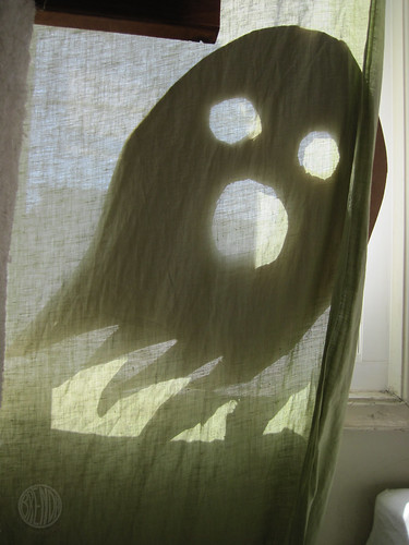 there's a ghost in the curtains!
