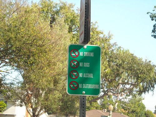 Green Space Sign