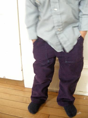 purple corduroy pants - Pi Pants