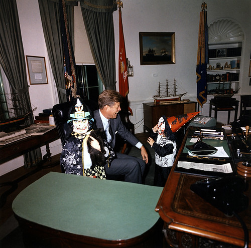 Halloween visitors with the President, 31 October 1963 by Infrogmation