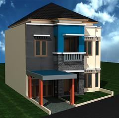 Rumah Minimalis 2 lantai di Purwokerto by Indograha Arsitama Desain  & Build