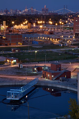 detroit, industrial city (gsgeorge) Tags: city urban industry skyline view detroit metropolis delray renaissancecenter rustbelt watertreatmentplant downtowndetroit ambassadorbridge detroitskyline industrialdistrict detroitindustry delraydetroit