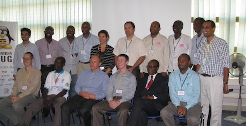 Tim Berners-Lee and Stéphane Boyera with the Uganda Linux Users Group