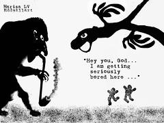Eden (Eddy Allart) Tags: eve adam art garden rotterdam eva paradise god snake cartoon jardin paraiso dios dieu slang blanconegro gott paradijs eddyallart