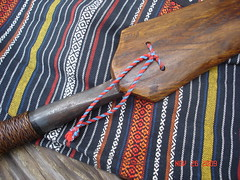 Open end of sheath (kukulza28) Tags: knife taiwan sword aborigine blade machete dao 烏來 rattan taiwanese wulai sheath 刀 atayal 原住民 tayal 銅門 laraw yuanzhumin 番刀 mgaga