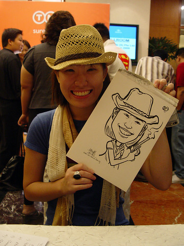 Caricature live sketching TNT Express Worldwide D&D 2009 - 4