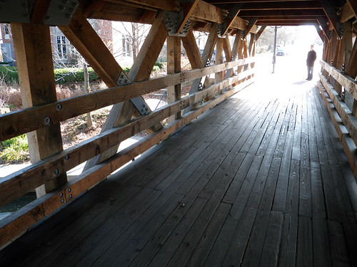 Covered bridge over DuPage River