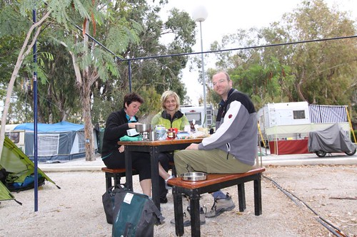 Nice fellow cyclists, Kerstin und Markus (Germany) and me at the campsite in Torremolinos...