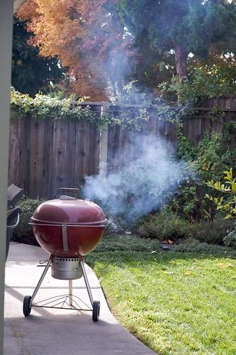 Smoking the Thanksgiving Turkey