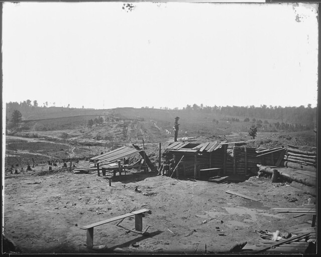 Fortifications in front of Atlanta Ga 1864 by The US National Archives