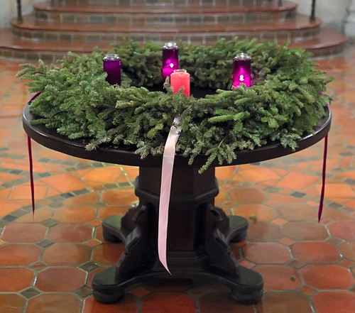 Kenrick-Glennon Seminary in Shrewsbury, Missouri, USA - Advent wreath in lobby
