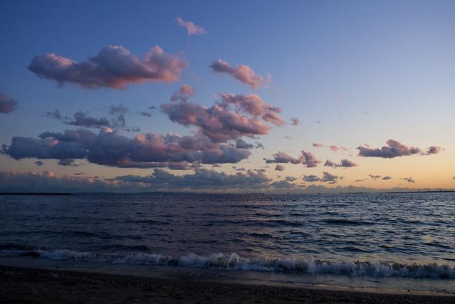 ピンクの夕雲
