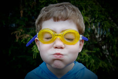 Yellow Goggles (frieda.rain) Tags: boy swimming child breath goggles fouryears