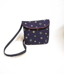 blue ball pouch bag (miyukim26) Tags: copyright handmade bags etsy purses clutchpurses madeit bluecaravan madeinmelbourne miyukimardon mincdesign northmelbournemarket moncdesign northcotemarket