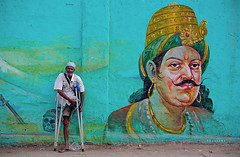 the absurdists (Shadowtrail) Tags: street india painting bangalore anger kings handicap commercialstreet camus helpless absurdism shivajinagar