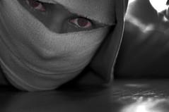 Cure (Cowboy 55) Tags: portrait white black art self dark eyes nikon expression metallica cure bandages d300s