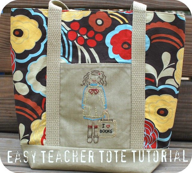 Easy Teacher Tote Tutorial