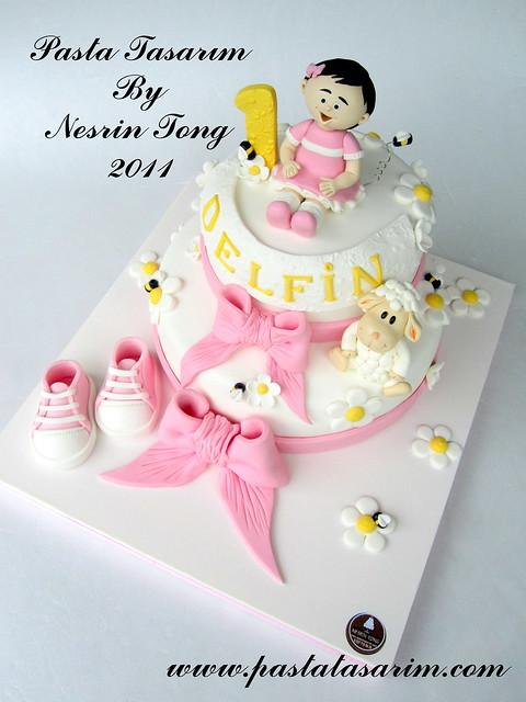 1ST BIRTHDAY CAKE - DELFIN