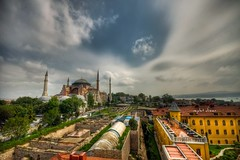 Istanbul,Turkey (Nejdet Duzen) Tags: trip travel cloud turkey view trkiye istanbul mosque hagiasophia bulut manzara camii turkei seyahat tarih ayasofyacamii colorphotoaward saariysqualitypictures mygearandme venividitravel