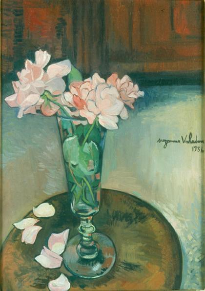 Suzanne Valadon - Roses dans un verre