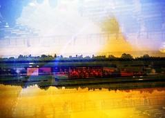 (mikehip) Tags: abstract abusedfilm holga 35mm doubleexposure filmisnotdead film catchycolors color lomography photography filmsoup newyork saratogaracetrack yellow kodak