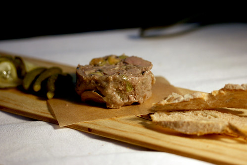 Duck and pistacio terrine