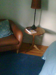 small_brown_side_table (hjmalloy1) Tags: freecycle