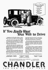 """If You Really Want Your Wife to Drive"" (dok1) Tags: chandler 1924 dok1 nationalgeograhic oldcarads 1924chandler"