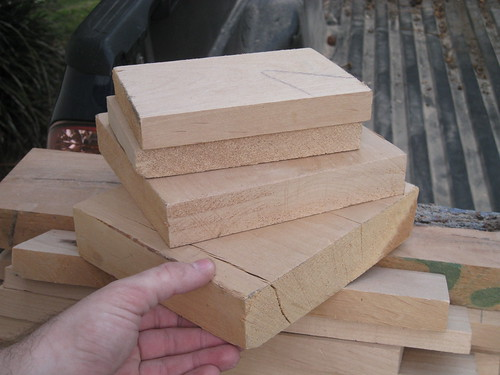 thicker chunks of alder