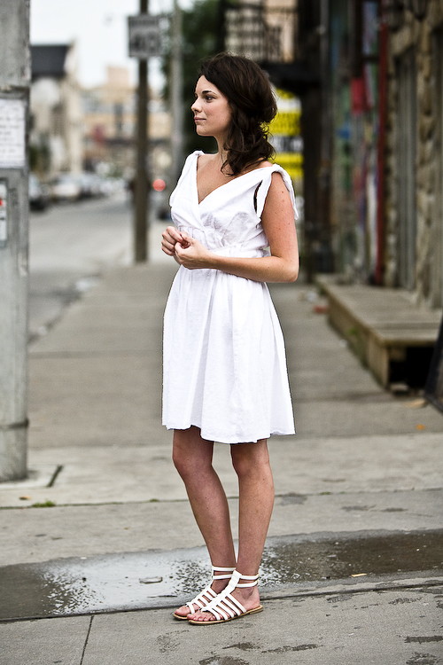 Grecian Dress, Toronto Street Fashion @ Dundas St. East and Church St., Toronto, street style, photo by Krist Papas, whatsyourpersona