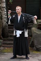 (mrksaari) Tags: summer portrait espoo costume cosplay event sword samurai katana d300 85mmf14d ropecon dipoli