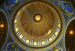 Ceiling of St. Peter's Basilica (Vatican) (DulichVietnam360) Tags: voyage travel italy vatican rome roma italia basilica capital explore italie architec kintrc mywinners dulichvietnam360 th ceilingofstpetersbasilica giohivatican mivmnhththnhpetervatincan