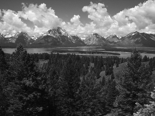 snake river overlook B&W film