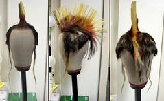Schufterle, mohawk wig detail