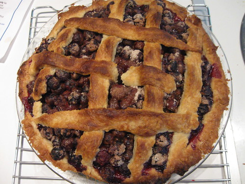 the blueberry pie is ready?