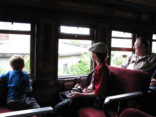 Enjoying the view, East Broad Top Railroad