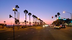 Sunset on PCH (Eric Demarcq) Tags: california sunset sky usa colors losangeles palmtrees pch huntingtonbeach californie pacificcoasthighway discoverla ericdemarcq