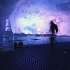 ice bootle & me (Toni_V) Tags: blue motion blur ice me schweiz switzerland movement violet surreal glacier zermatt kleinmatterhorn 2009 d300 dsc1269 2c gletscherpalast