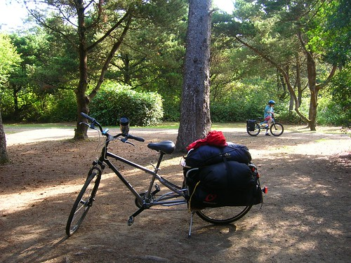 How cool is it that ALL our camping gear is packed on our bikes?
